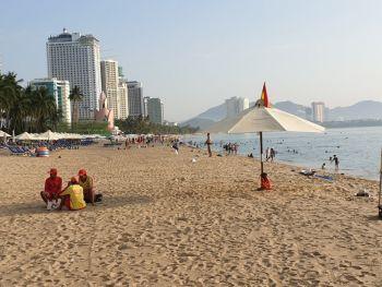 Центральная часть городского пляжа Нячанга